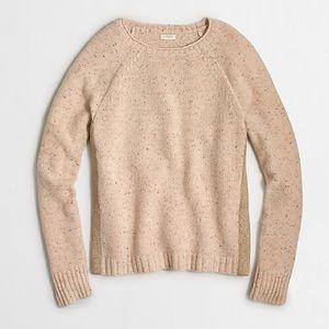 J.Crew Donegal Shimmer Side Crewneck Sweater
